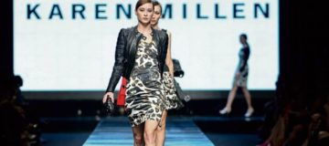 UK fashion brand Karen Millen hoists for sale sign