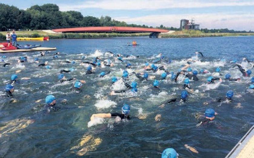 Jones Lang LaSalle makes a splash but CEO Guy Grainger misses out at charity triathlon