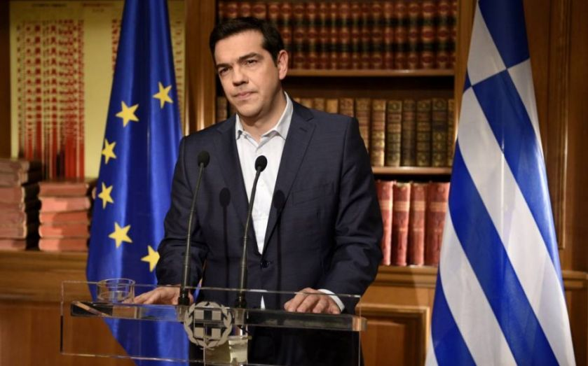 Tsipras lashes out at lenders ahead of poll
