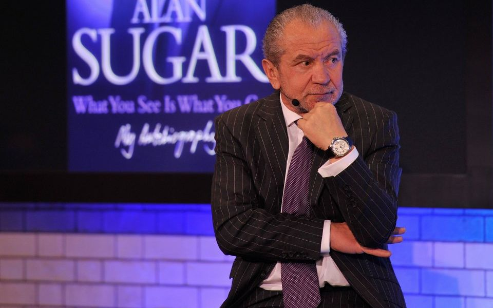 You're hired: Lord Sugar backs Boris Johnson to be next PM