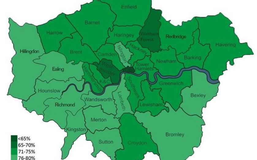 Best London Map.This Map Shows The Best London Boroughs For Startups Cityam Cityam