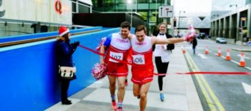 Cold weather fails to deter warm hearts as Canary Wharf runners raise money for Kids City charity