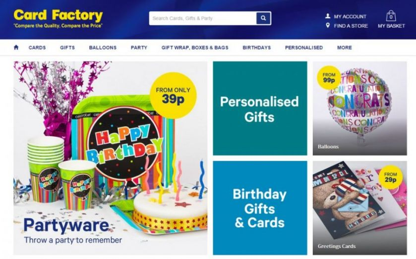 Card Factory share price falls eight per cent after bosses sell shares