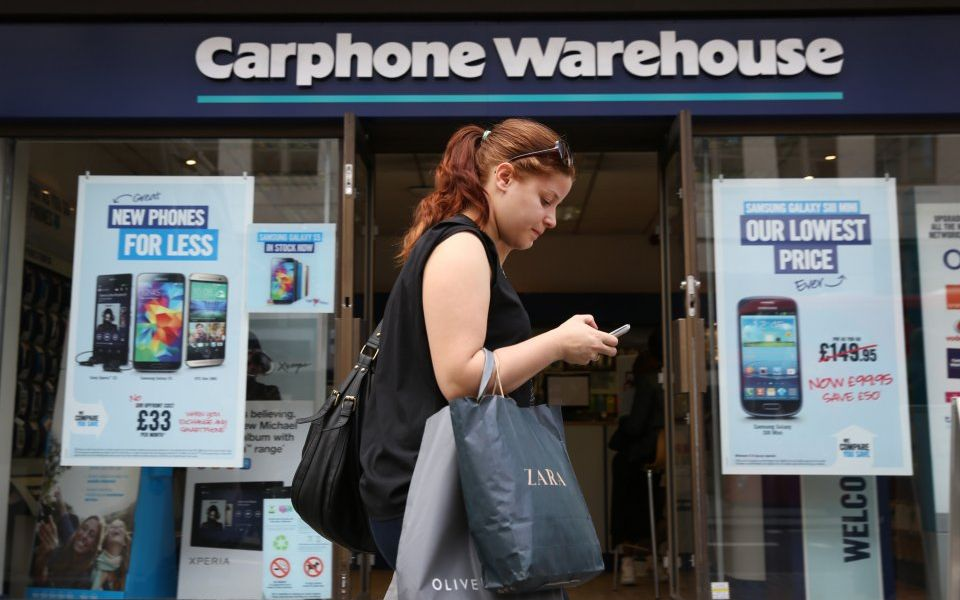 Dixons Carphone sinks to £440m loss, sending share price