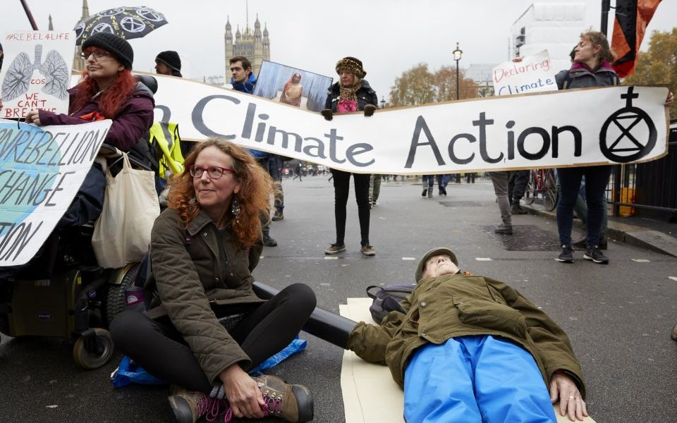 Climate change activists Extinction Rebellion begin fourth day of protest with demonstration in Parliament Square - CityAM