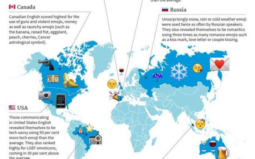 Mapped: What emoji use reveals about your country (hint