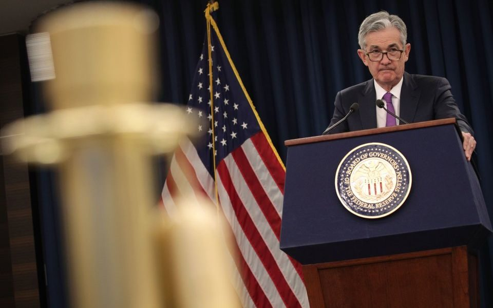 US Federal Reserve (Fed) chairman Jerome Powell
