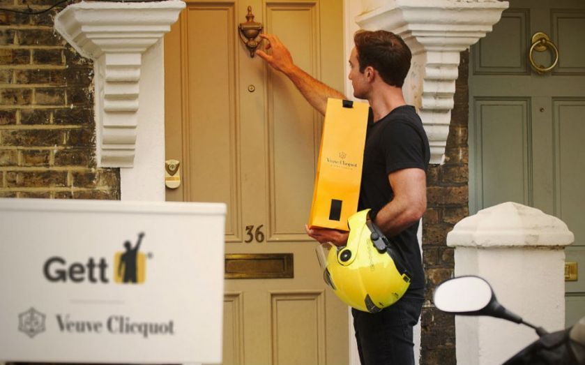 Now Gett lets you order Veuve Clicquot champagne in London as it expands on-demand services
