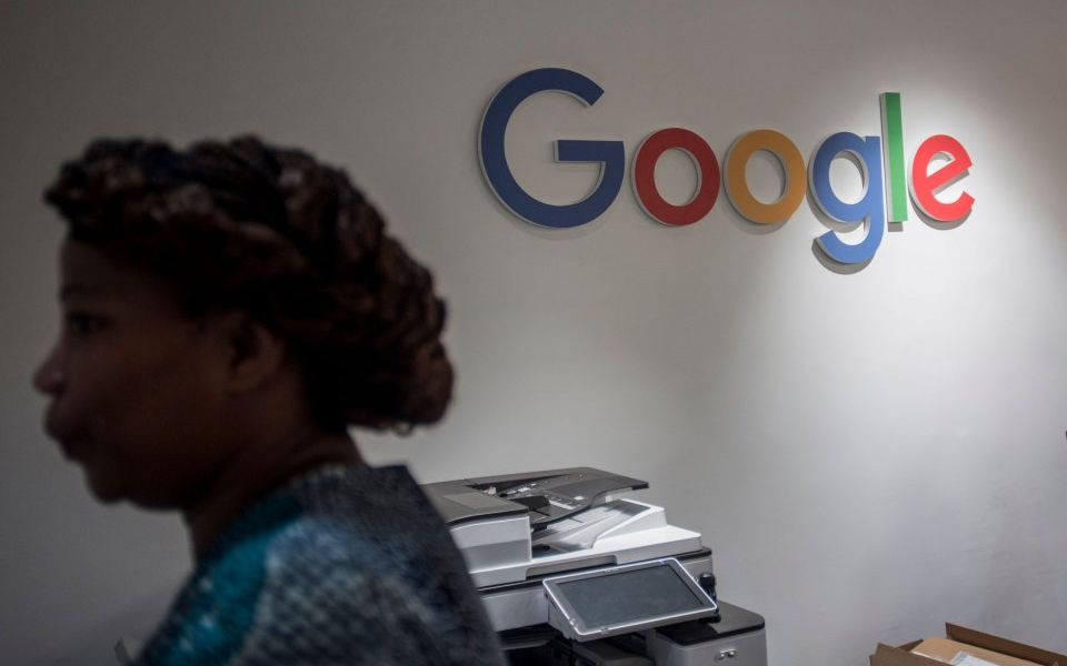 Not so lucky: Google's share price falls eight per cent after disappointing results