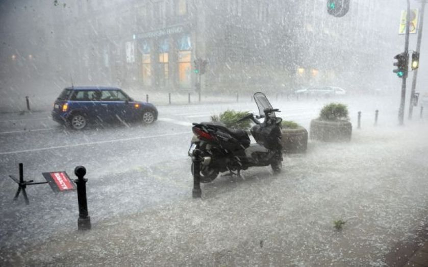 Amlin's profits battered by strong pound and hail storm catastrophe losses