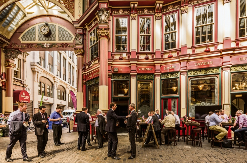 Leadenhall market could also see a boom when al fresco dining is allowed again