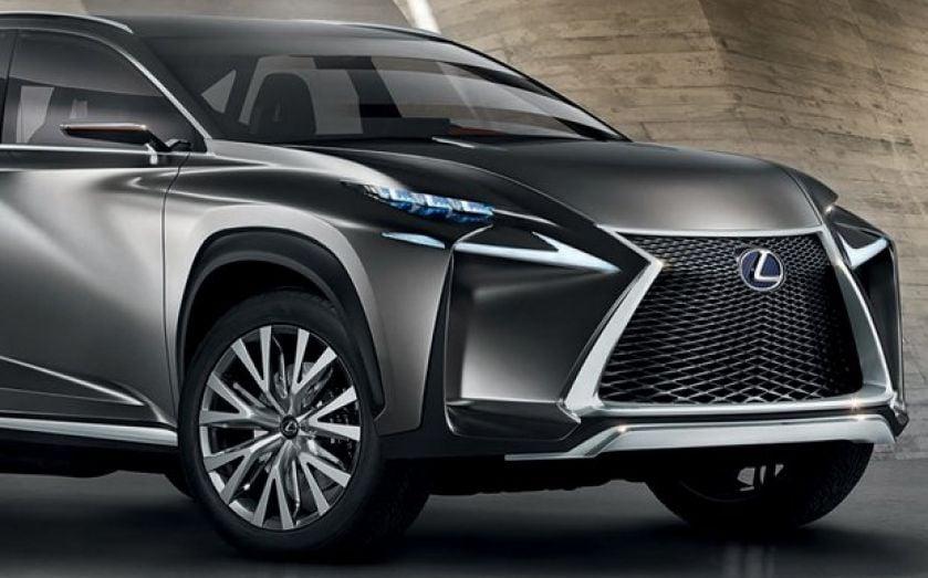 Lexus Lf Nx >> The Lexus Lf Nx Concept Is A Muscular Angular Beast A