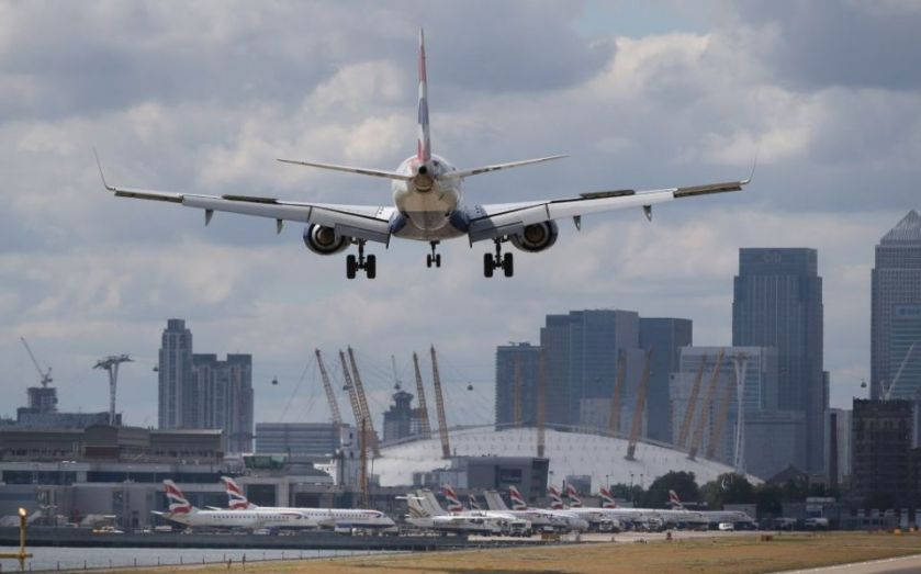 London City Airport flight disrupted by Extinction Rebellion protester
