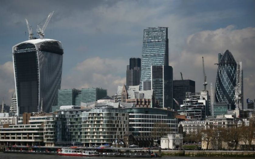 London's markets followed Wall Street higher this morning, led by a string of heavyweight stocks, as the slowdown in economic growth in recent weeks eased fears that stimulus measures could be withdrawn sooner than expected.