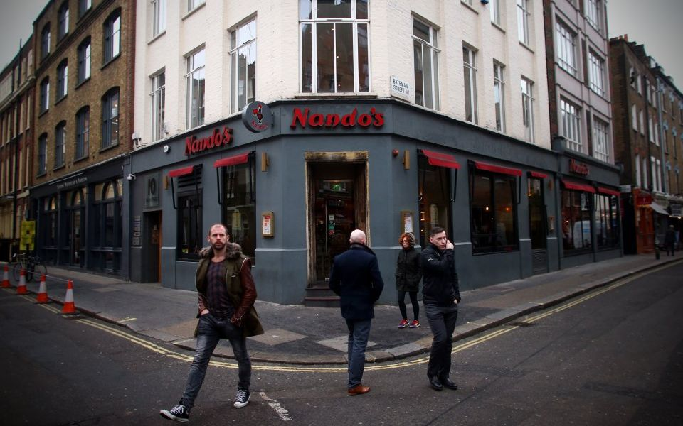 And the best restaurant award goes to... Nando's?
