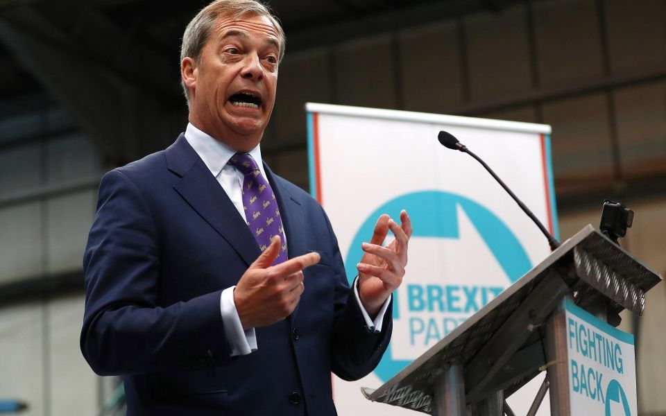 The Brexit Party 'at risk' of accepting illegal donations, watchdog finds