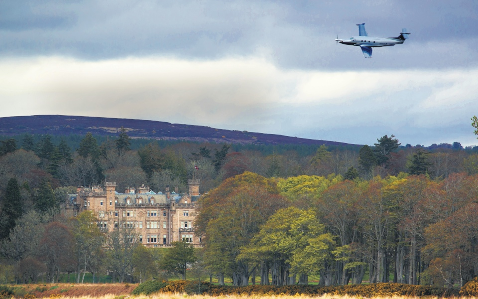 The best way to explore the highlands is by plane – we visited the Carnegie Club in a Pilatus PC-12 NG