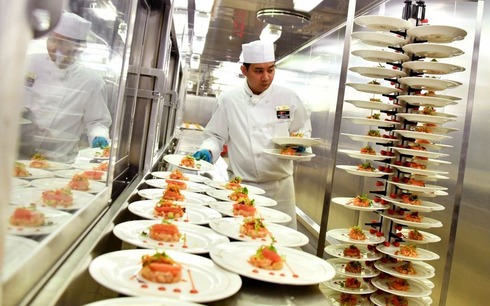 Shares jump as caterer Compass points north despite pressures from UK business