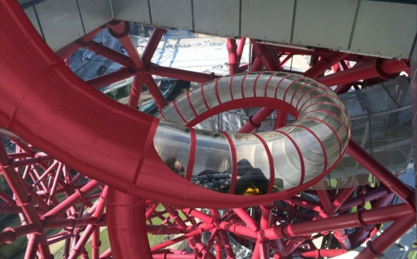 London's Olympic Park is wrapping the world's longest tunnel slide around its Orbit Tower