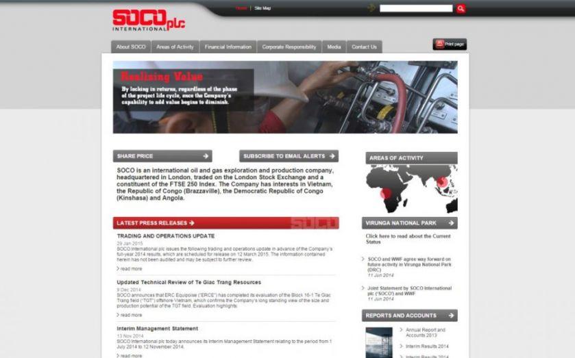 Soco International output on track