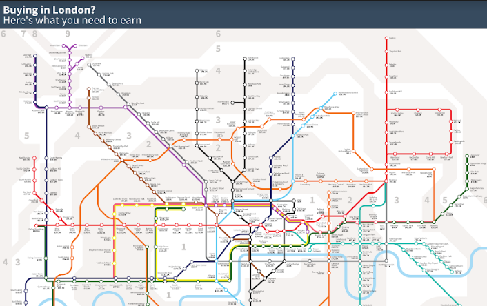 Someone\'s redesigned London\'s Tube map to show what salary ...