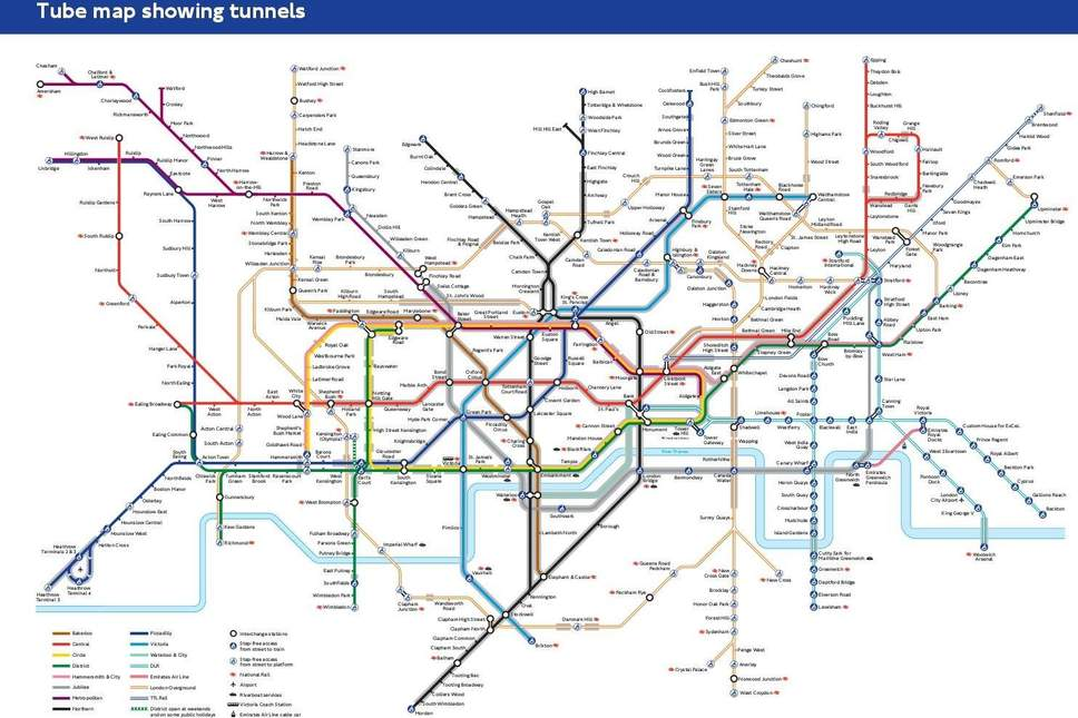 Map Of London With Underground.Tfl Has Drawn Up A Tube Map To Help People With Anxiety Avoid The