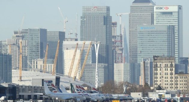 Construction is underway at London City Airport