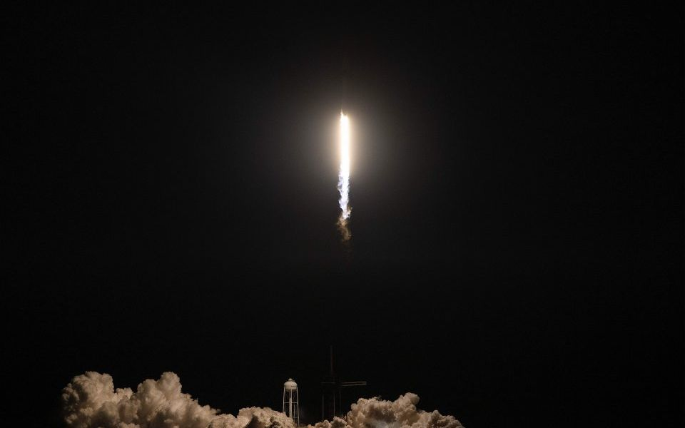 Space X launches unmanned crew capsule to International Space Station in step forward for sending humans into orbit