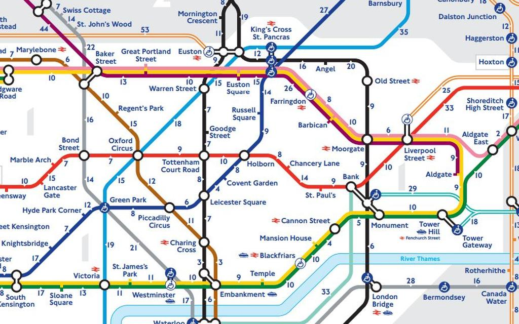 Transport For London Map.Transport For London S New Tube Map Reveals How Many Minutes It