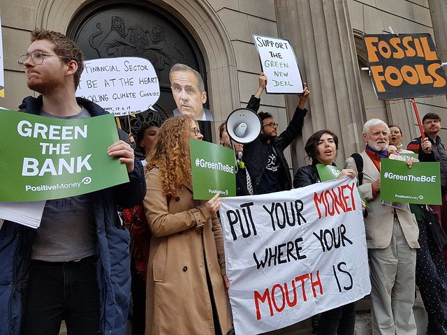 Climate change protesters target Bank of England MPC meeting