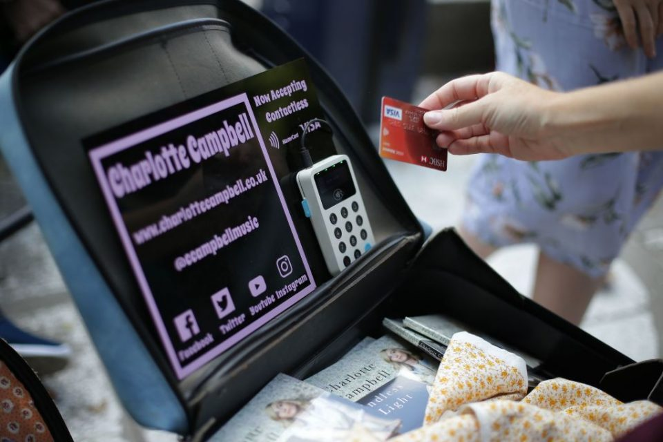 UK Finance payments data showed contactless cards were increasingly popular