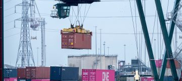 UK ports saw an increase in imports in the three months to April, the Office for National Statistics (ONS) said