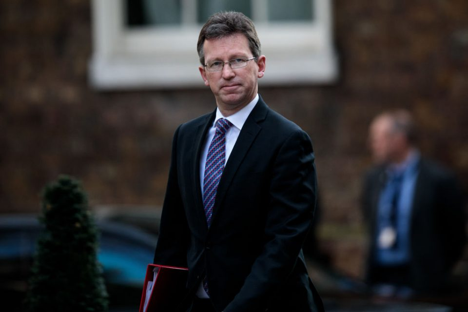 LONDON, ENGLAND - APRIL 01: Culture Secretary Jeremy Wright arrives at Number 10 Downing Street on April 1, 2019 in London, England. British Prime Minister Theresa May hosts summit on knife crime in Downing Street with community leaders, politicians and senior officials today. (Photo by Jack Taylor/Getty Images)