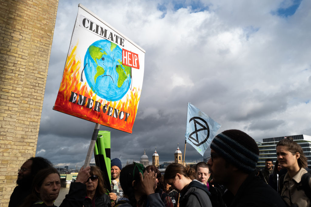 UK climate change law comes after Extinction Rebellion protests across London in April