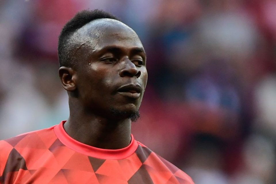 Liverpool's Senegalese striker Sadio Mane warms up before the start of the UEFA Champions League final football match between Liverpool and Tottenham Hotspur at the Wanda Metropolitan Stadium in Madrid on June 1, 2019. (Photo by JAVIER SORIANO / AFP)        (Photo credit should read JAVIER SORIANO/AFP/Getty Images)