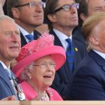 Prince Charles, Queen Elizabeth and US President Donald Trump enjoyed a fly-by at the anniversary celebrations in Portsmouth