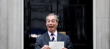 Brexit Party leader Nigel Farage delivers letter demanding seat at EU negotiating table