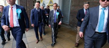 Nigel Farage milkshake: The Brexit party leader was hit with a milkshake in the run up to the European elections