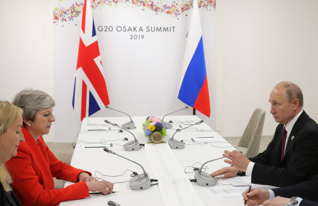 Theresa May tells Vladmir Putin there can be no repeat of Salisbury attack in face-to-face meeting