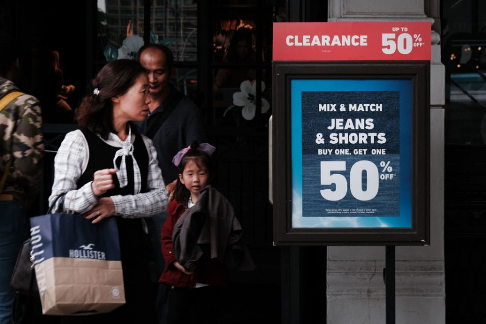 US shoppers faced only marginal inflation growth in May, according to US labour department inflation data