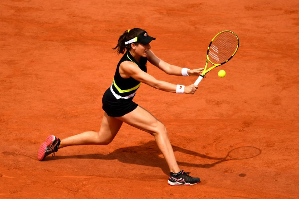 Konta's backhand is one of her biggest strengths as she sent Stephens running around the court