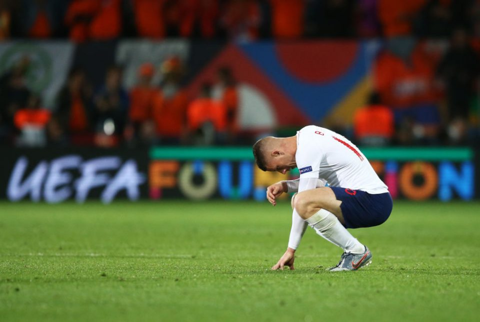 GUIMARAES, PORTUGAL - JUNE 06:  Ross Barkley of England looks dejected in defeat after the UEFA Nations League Semi-Final match between the Netherlands and England at Estadio D. Afonso Henriques on June 06, 2019 in Guimaraes, Portugal. (Photo by Jan Kruger/Getty Images)
