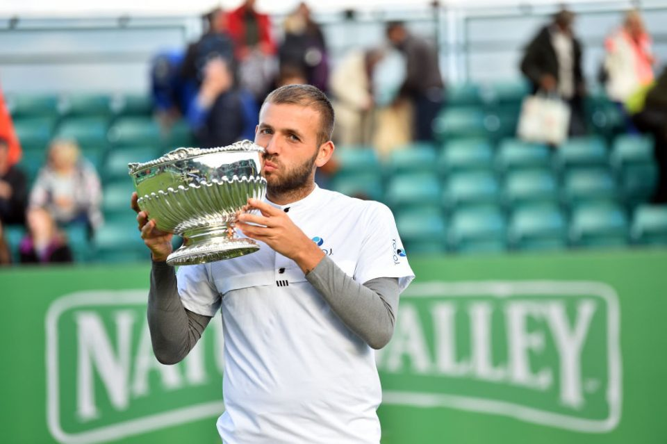 Dan Evans won titles at Nottigham (pictured) and Surbiton this month