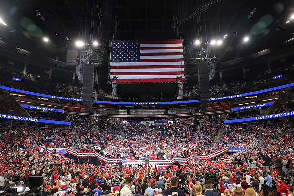 Trump's 2020 re-election bid was launched last night