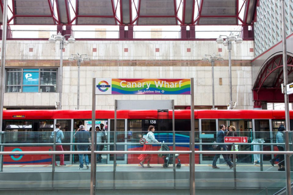 Transport for London have put in place Pride roundels at tube stations across the capital ahead of the event
