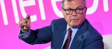 "LONDON, ENGLAND - APRIL 18: Sir Martin Sorrell speaks during ""A Conversation with..."" on the ITV stage during Advertising Week Europe 2016 at Picturehouse Central on April 18, 2016 in London, England. (Photo by Eamonn M. McCormack/Getty Images for Advertising Week Europe)"
