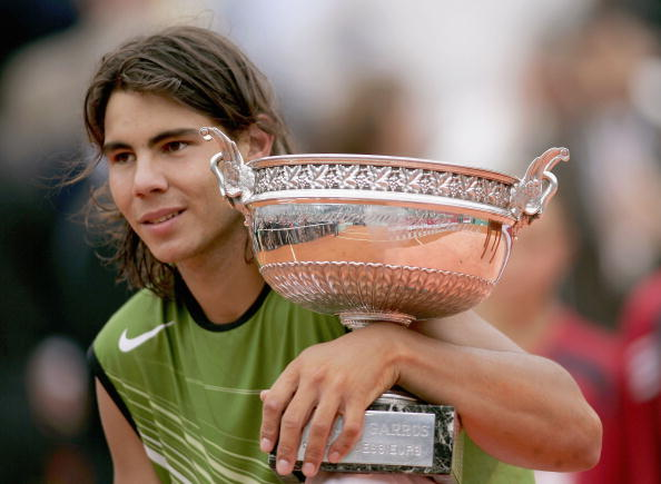 Nadal won his first title at Roland Garros in 2005 as a 19-year-old