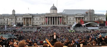The London Symphony Orchestra previously played in Trafalgar Square