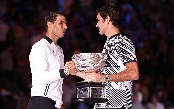 Nadal has a superior head to head record having won 25 of their 38 matches but Federer has more grand slam titles