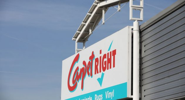 NORTHWICH, ENGLAND - MARCH 21: A general view of carpet and flooring retailer on March 21, 2018 in Northwich, England. Carpetright has announced a company voluntary arrangement that will allow it to close unprofitable shops and cut rents on other stores. (Photo by Christopher Furlong/Getty Images)